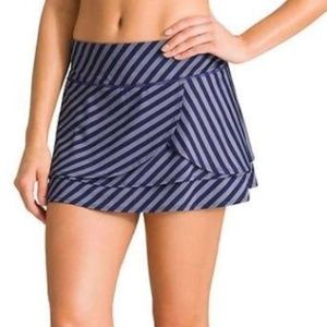 Athleta Fly By Swagger Tiered Striped Skort